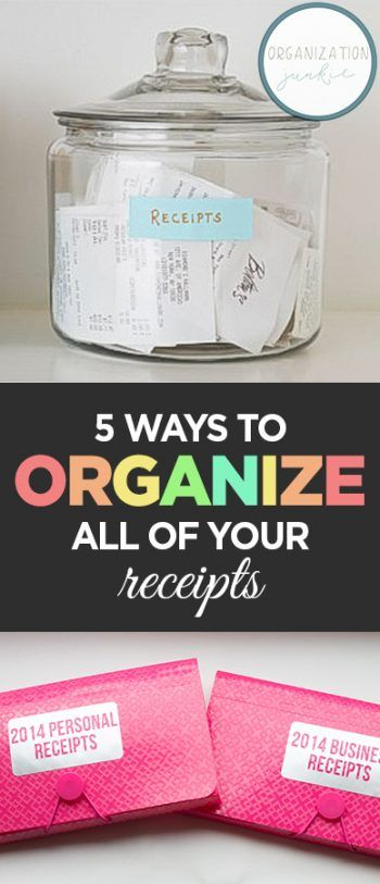 5 Ways to Organize All of Your Receipts| Home Organization, Home Organization TIps and Tricks, Paper Clutter, Paper Clutter Organization, Home Organization, Home Organization Hacks, Organization 101 #HomeOrganization #PaperClutterOrganization #OrganizationTipsandTricks