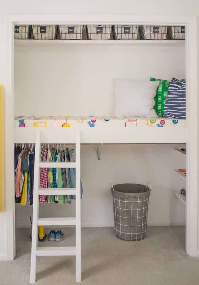 How To Build A Closet Loft A Closet Doesn T Have To Be A Boring Storage Area It Can Be A Fun Loft Too Your Kids Book Nook Closet Build A Closet
