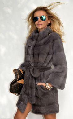 mink furs - 2015 milano graphite royal saga mink fur coat More