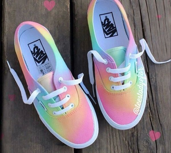 Colorful Vans Shoes for Women - http://ninjacosmico.com/9-fashion-tips-pastel-grunge/