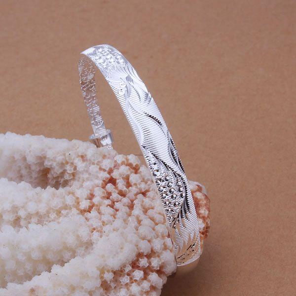 Потерять Деньги Акции Оптовые серебряные браслеты, цветок браслеты B184-68020-AAAAAA