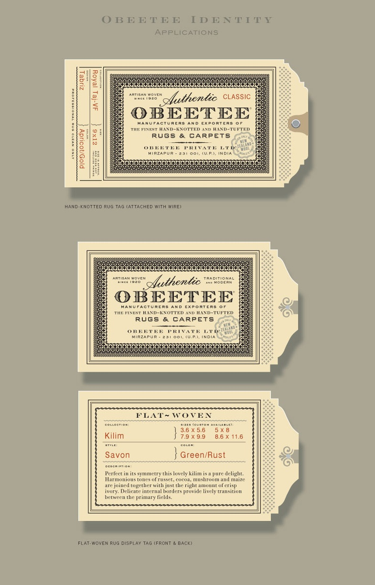 Obeetee identity/print collateral | Designers: Sandstrom Partners - http://www.sandstrompartners.com/