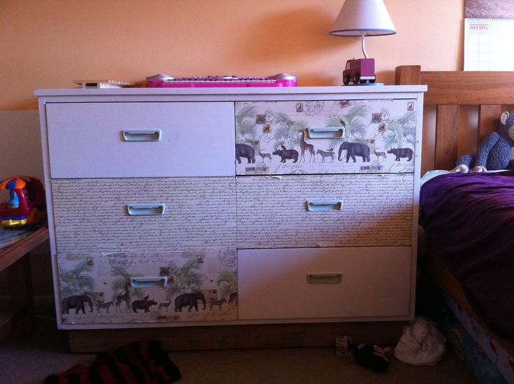 Old drawers done up for nursery room...