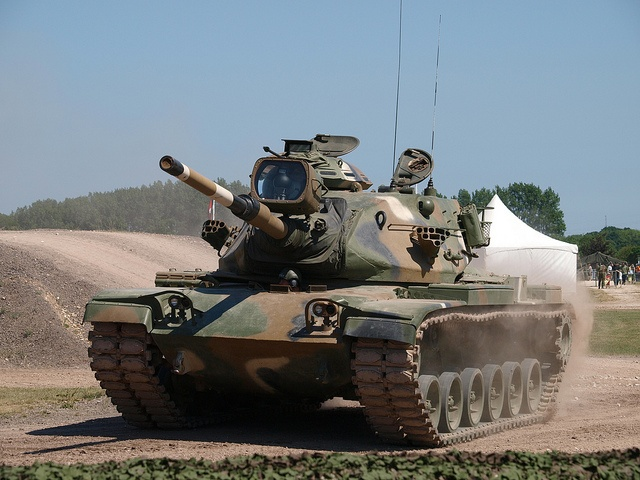 M60 A1 Patton Tank...biggest gun I ever drove, loaded, and shot...I was a Tank Commander with the old 49th Armored Division