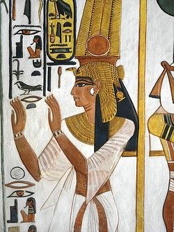 Egypt, Thebes (UNESCO World Heritage List, 1979) - Luxor - Valley of the Queens. Tomb of Nefertari. Annex to antechamber. Mural paintings. Queen (Dynasty 19, Ramses II, 1290-1224 BC) (QV66 - 333362)