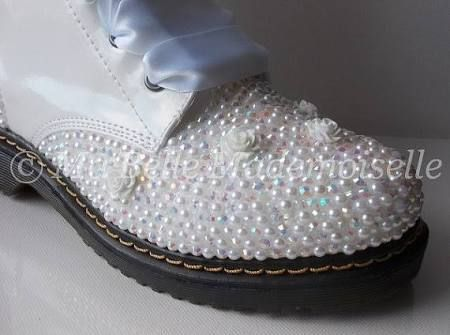 wedding doctor martin boots for bride - Google Search