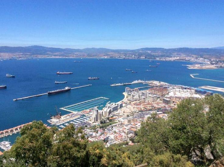 Vanaf de Rots van Gibraltar