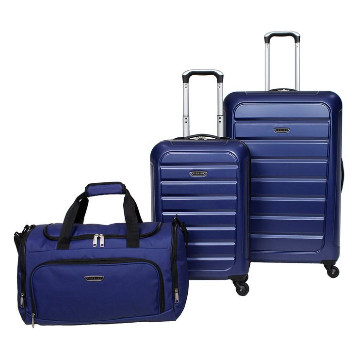 Prodigy Optics 3-Piece Hardside Spinner Luggage Set, Blue