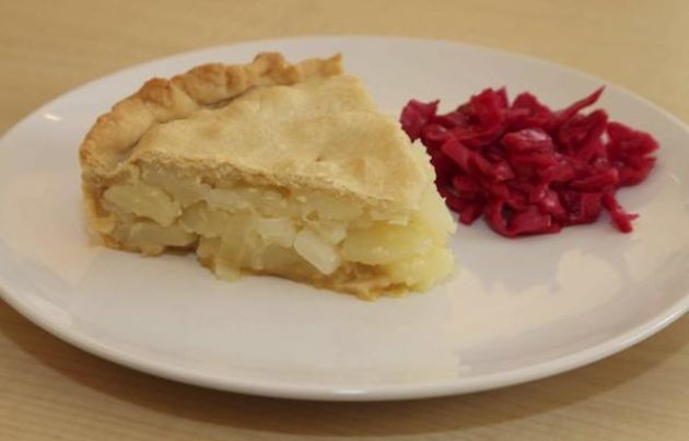 Butter Pie is also known as Catholic pie or Friday pie, and is an age-old dish, from around the Chorley and Preston area or, for the non-Lancastrians, a potato pie.