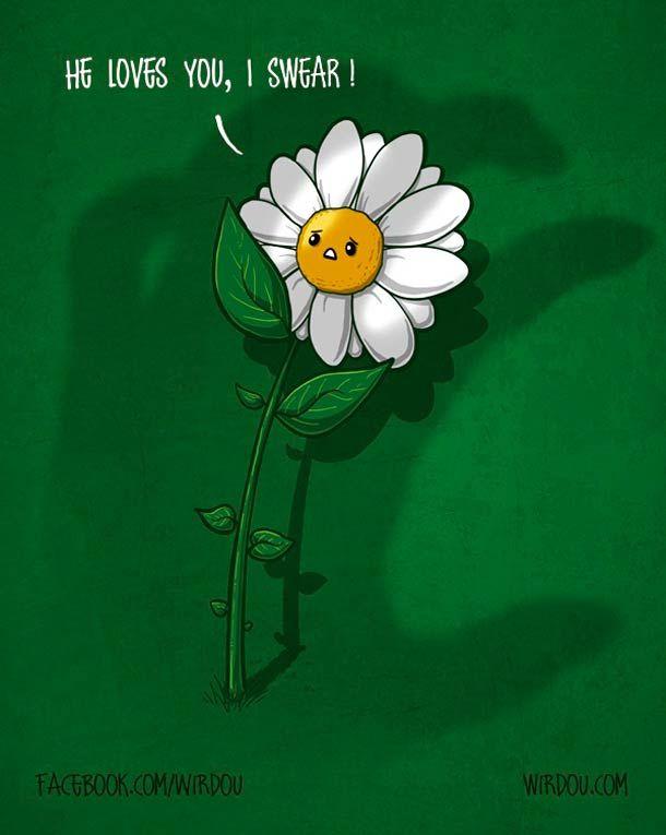 He loves you. Spanish illustrator Wirdou.