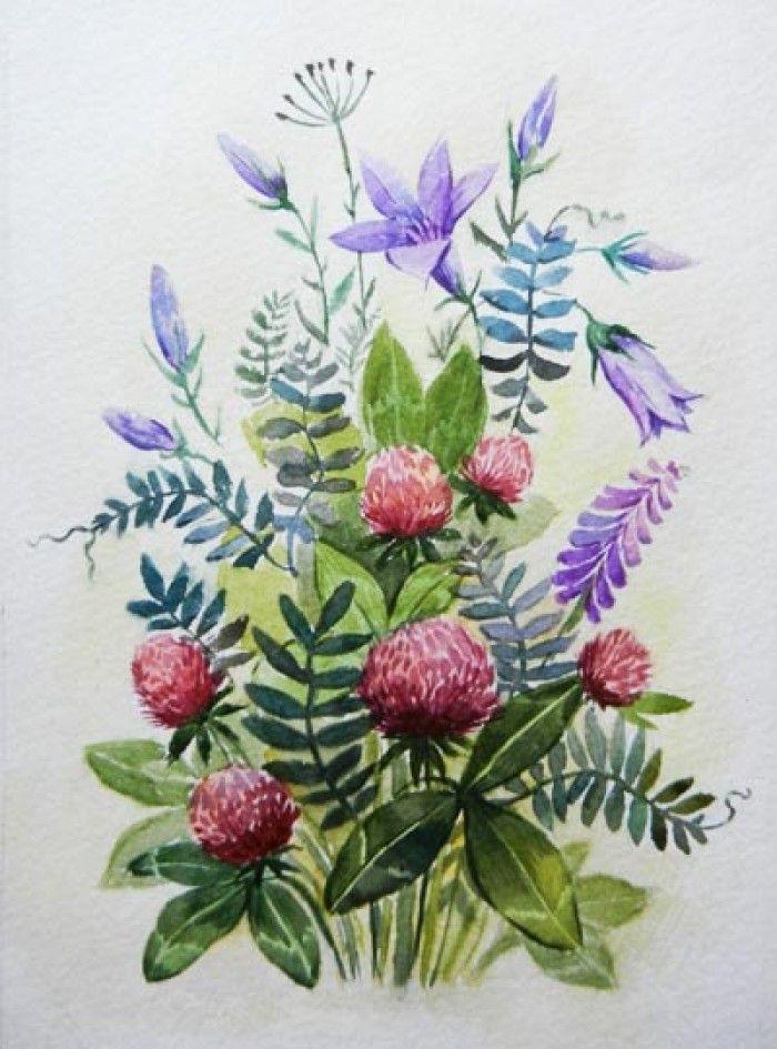 рисунки с полевыми цветами - Поиск в Google