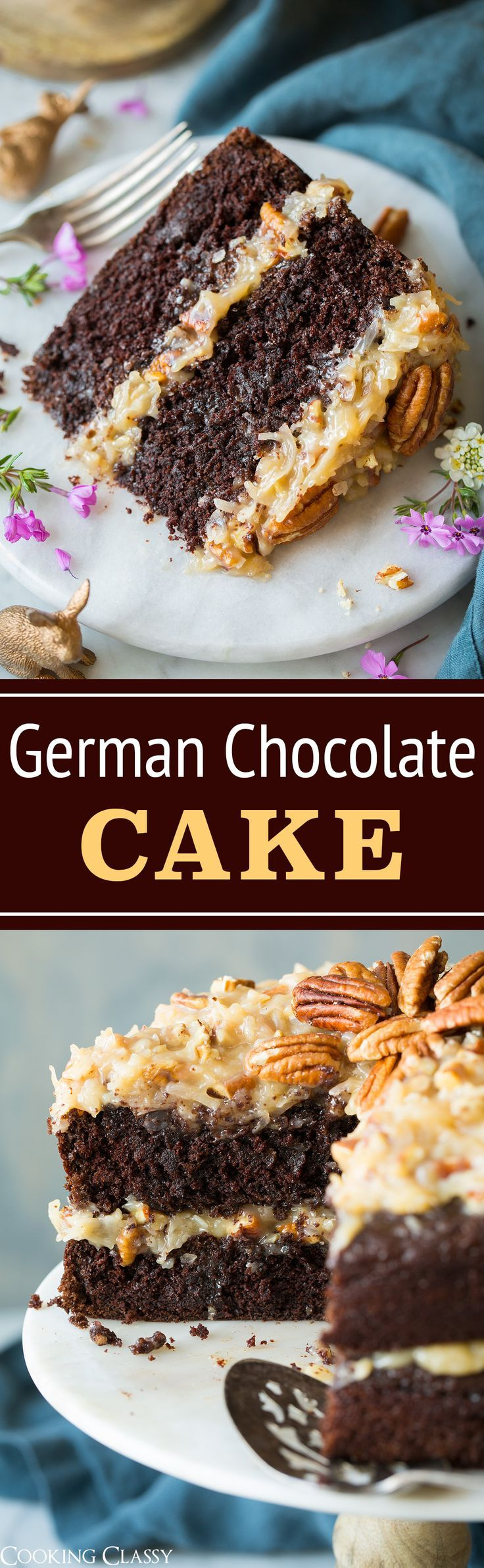 German Chocolate Cake - Cooking Classy