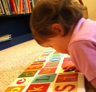 paint chip letter game for #kids