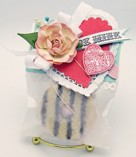 Cookie package using Winter Words designed by Barb Schram