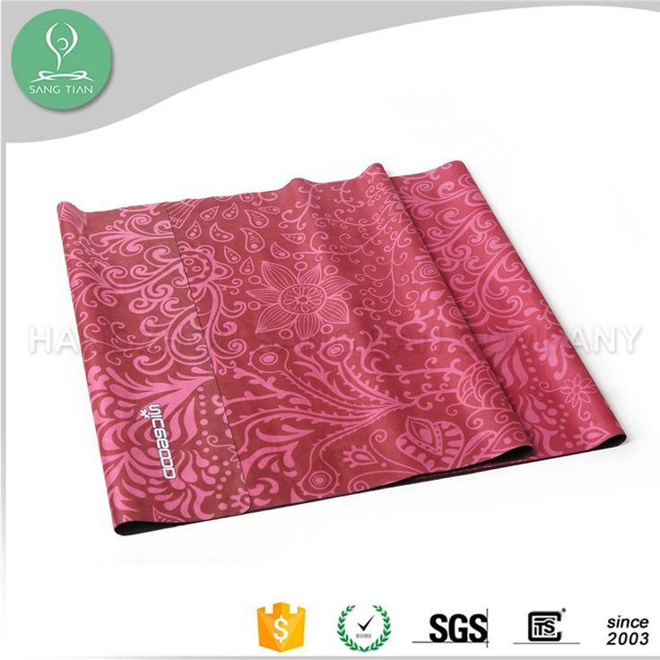 2016 bright red color new design new style printed flowers yoga mat can customized anti slip natural rubber yoga mat
