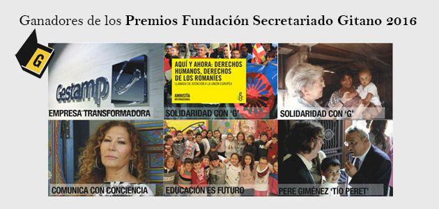 Premios Fundación Secretariado Gitano 2016