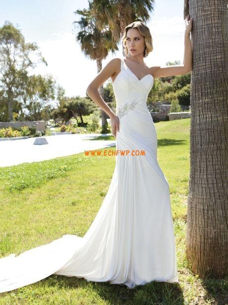 Styl trumpeta / Mořská panna Elegantní & luxusní Přírodní Svatební šaty 2013