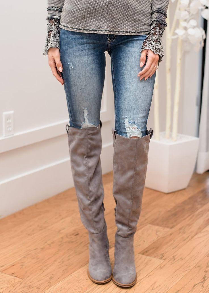 Slightly Distressed Denim Jeans, Jeans, Shopmvb, Women's Boutique, Online Shopping, Fashion, Style,  Modern Vintage Boutique