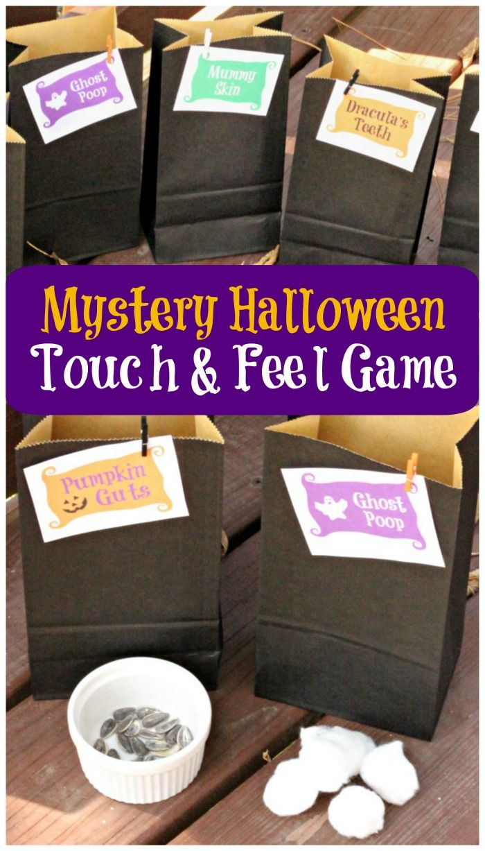 The perfect Halloween game for kids -- DIY touch and feel mystery bags for parties, get-togethers and semi-spooky fun!