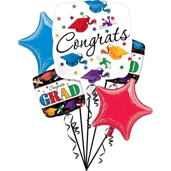 Dare to Dream Graduation Balloon Bouquet 5pc