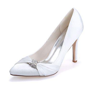 Bruiloft Schoenen - Zwart / Blauw / Roze / Paars / Rood / Ivoor / Wit / Zilver / Champagne - Huwelijk / Feesten & Uitgaan - Gepunte neus - – EUR € 37.99