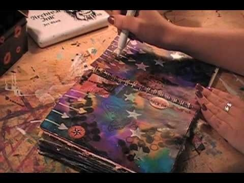 Awesome art journals!: How To Use Alcohol Ink, Art Video, Art Journals, Art Journal Tutorial, Alcohol Ink Tutorial, Alcohol Ink Painting, Art Journal Video, Diy Alcohol Ink