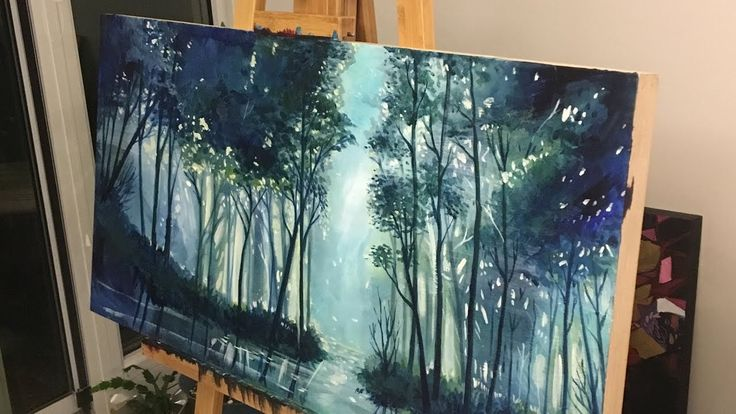 Time Lapse Painting a Forest (Part 2)