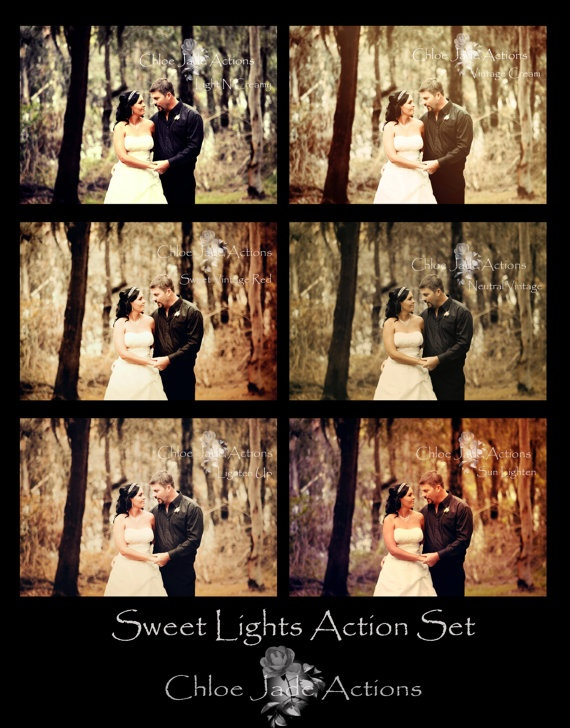 Photoshop Action Set of 6 by ChloeJadeActions on Etsy, $20.00