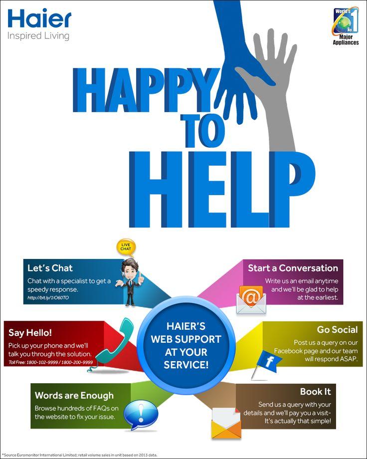 Haier helps you #Happytohelp