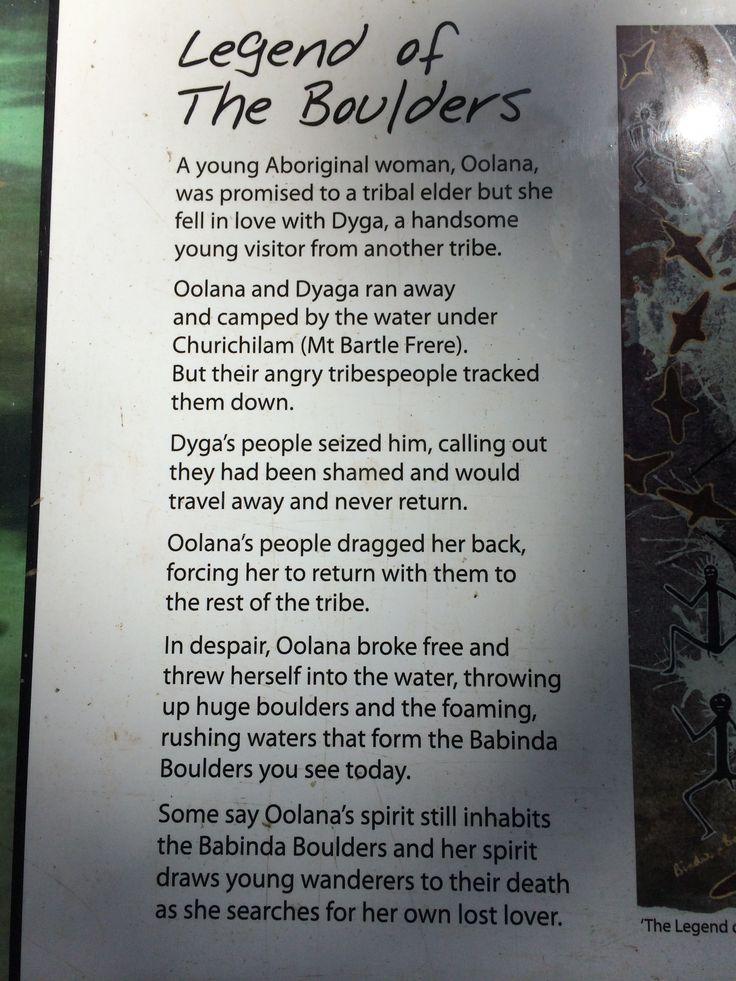Legend of Babinda Boulders