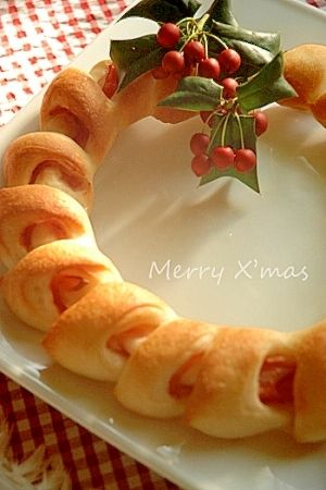 楽天が運営する楽天レシピ。ユーザーさんが投稿した「クリスマスリースになりました★ベーコンエピ」のレシピページです。いつものエピをまるくリースにしただけです。クリスマスだものね☆彡。ベーコンエピ。強力粉,薄力粉,塩,(水)ぬるま湯,ドライイースト,ベーコン