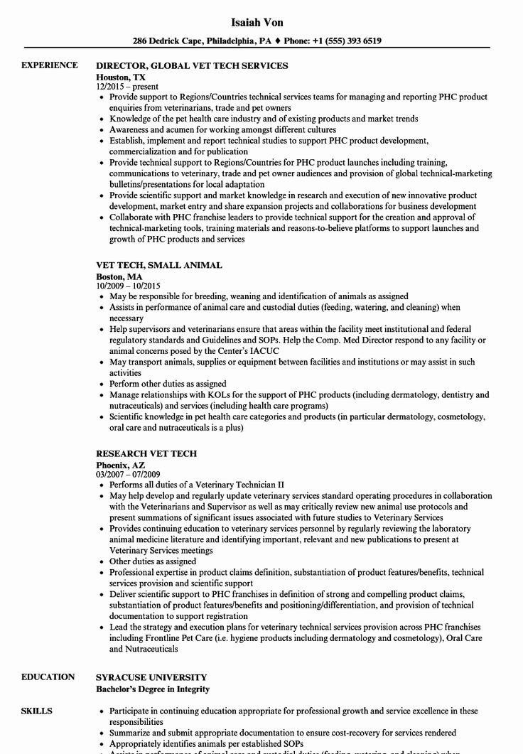 23 veterinary assistant resume example in 2020 resume