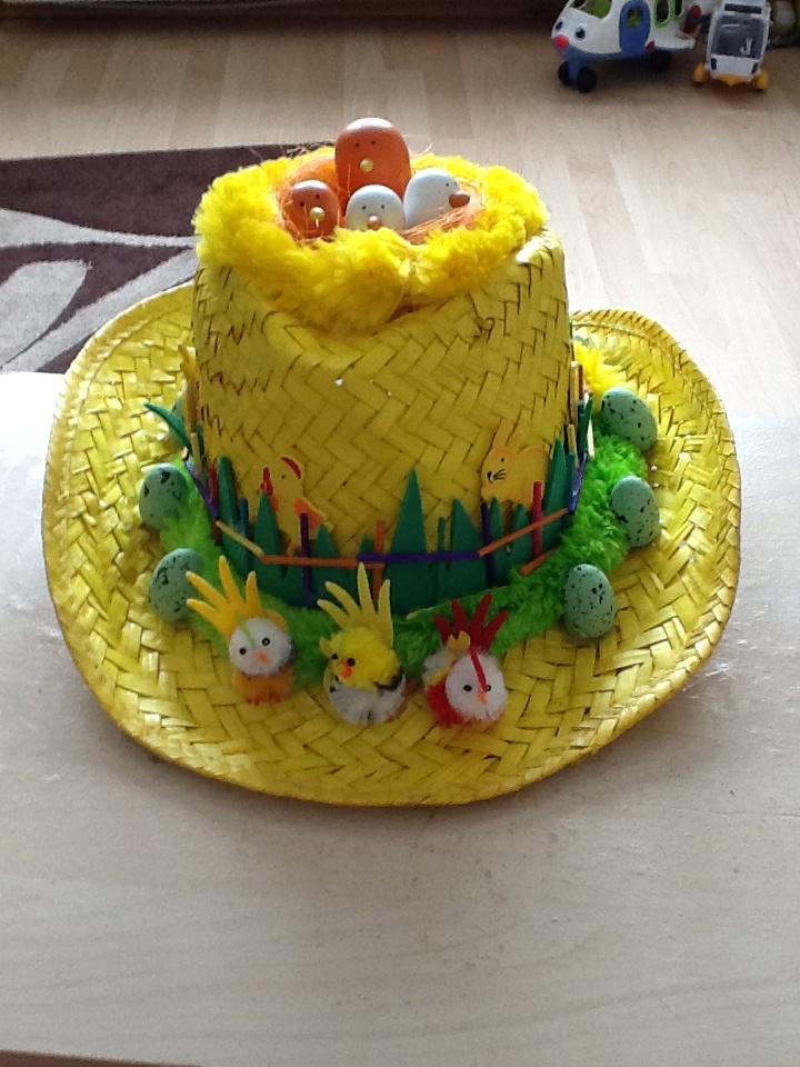 My boys Nursery Easter Hat :)