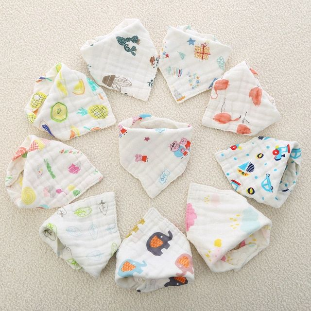 2a41e1c224070 3pcs/set Muslin Cotton Baby Bibs Girls Boys Baby Cloth Babador Bebes ...