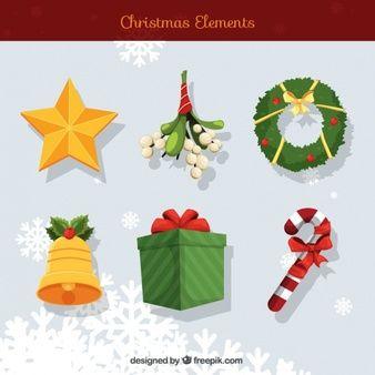 Vários decoração tradicional do Natal