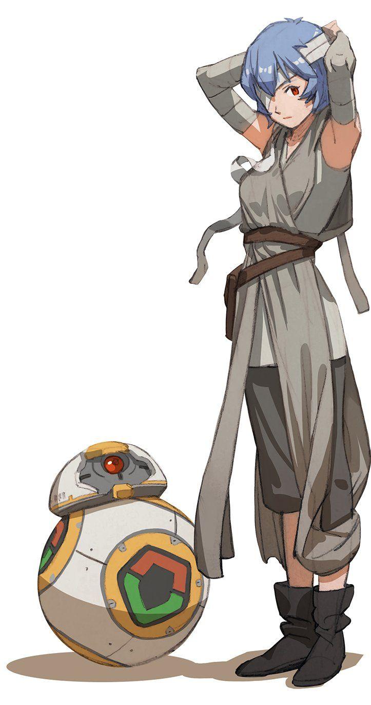 Star Wars x Evangelion. Rei x Rey, by  sunkist