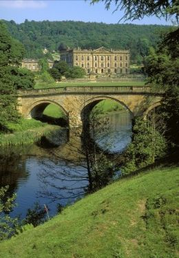 Chatsworth House ~ home of the Dukes of Devonshire , the Canvendish Family. Mary Queen of Scots was imprisoned here.