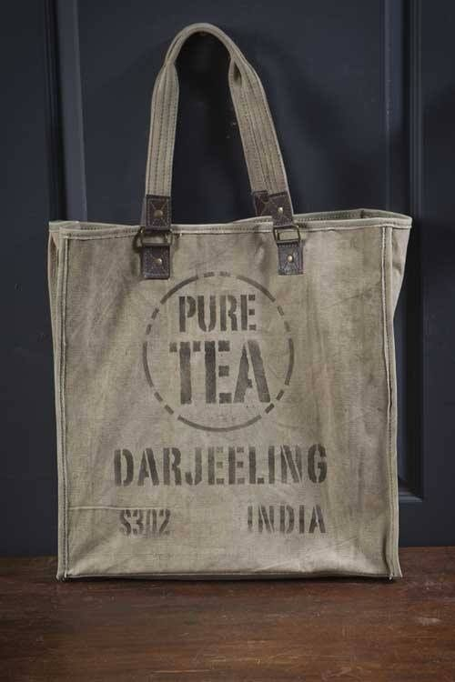 recycled canvas bag.