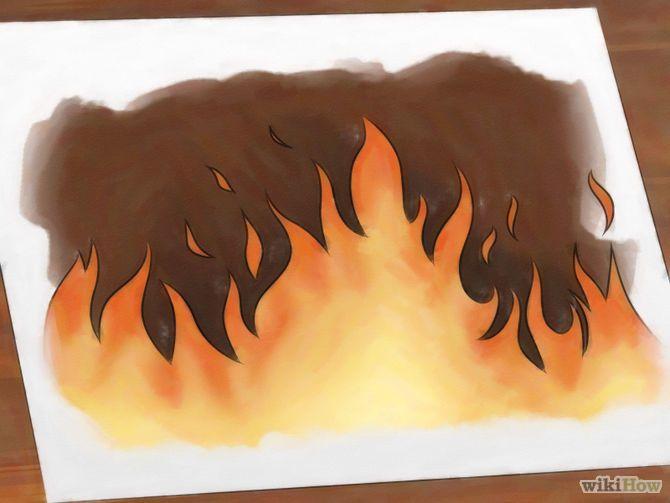 How to Draw Flames via wikiHow.com
