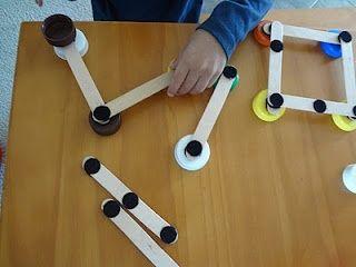 Velcro dots and craft sticks - modular building