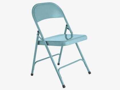 Blue Metal Dining Chairs macadam blue metal folding chair | metal folding chairs, folding