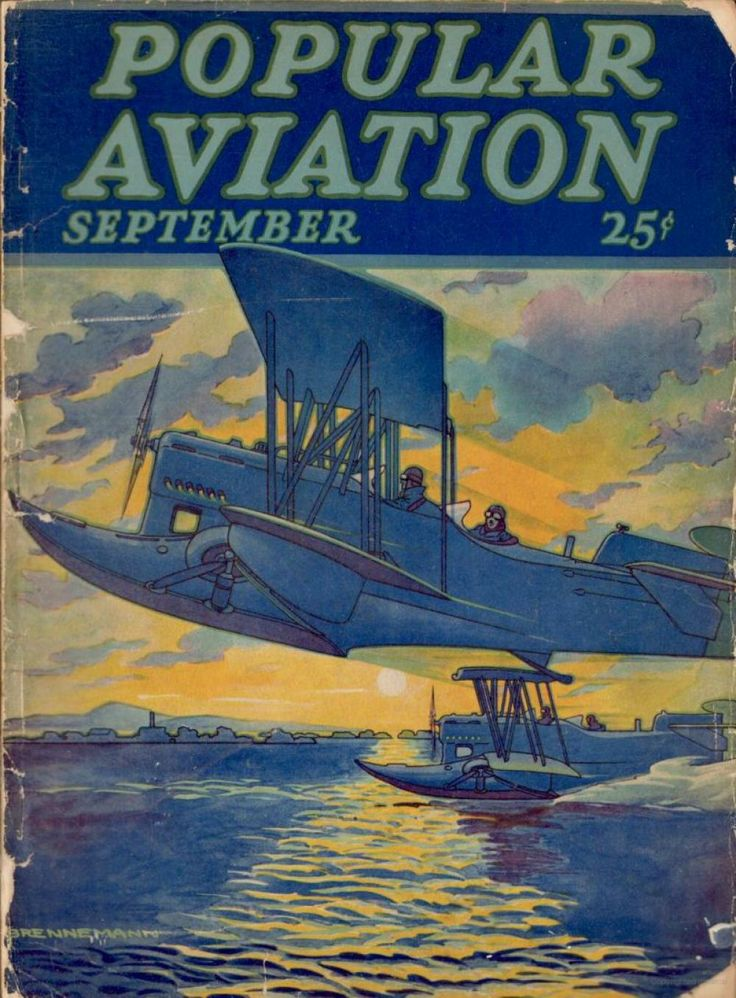 Flying Magazine's September 1928 Cover #vintage #aviation #flying