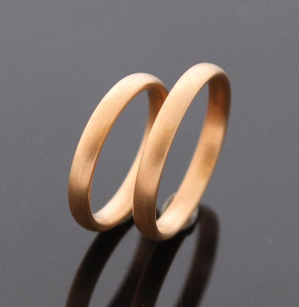 TRAURINGE rotgold  °du & ich °  333 Gold von MEIN-LIEBLINGSRING auf DaWanda.com
