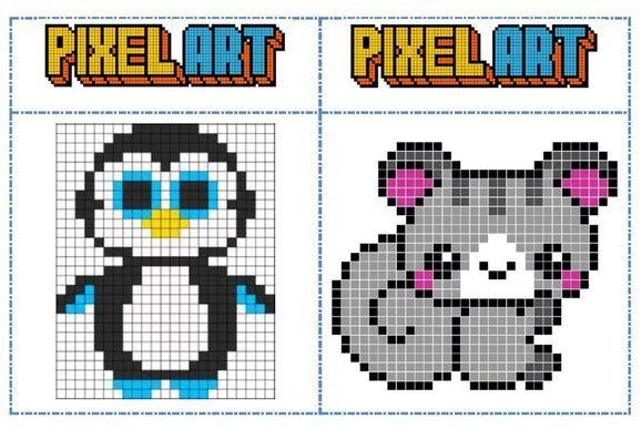 Fichiers Modeles Pixel Art Pour Les Temps D Autonomie Pixel Art A Imprimer Modele Pixel Art Pixel Art