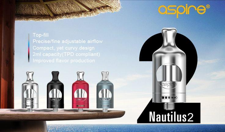 Nou ! In Stoc ! Versiunea 2 a legendarului Nautilus http://www.mahoarca.ro/vaporizatoare.html/aspire-nautilus-2 Compact , cu un design nou imbunatatit suporta noile rezistente de BVC de 0.7 ohm si 1.8 ohm