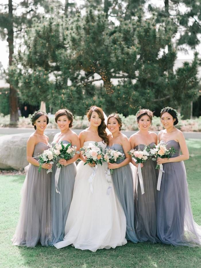 gray bridesmaid dresses; photo: Joel Bedford.