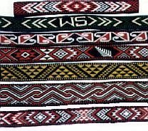 These are different taniko patterns. New Zealand