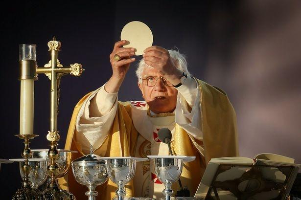 Msza w czasie pielgrzymki do Wielkiej Brytanii