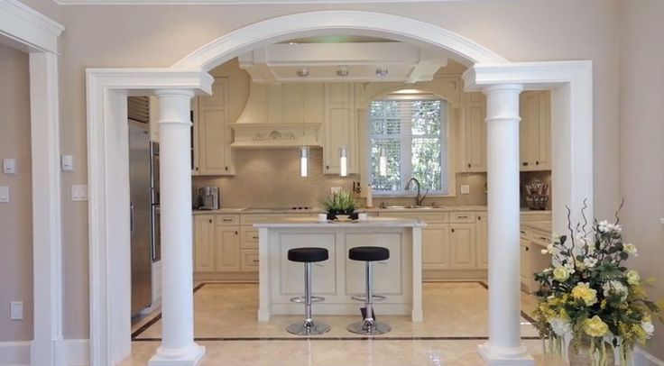 Living Room Kitchen Likes How The Arch Emphasizes The