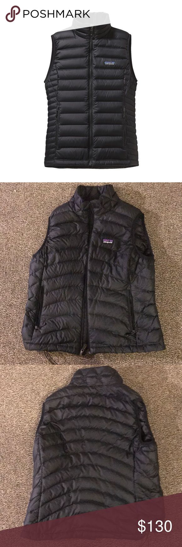 Patagonia Down Vest This is the Patagonia Women's Down Sweater Vest. It is in perfect condition other than a phone number and name sharpied on the tag. Made with traceable goose down, incredibly warm. Has internal chest pocket that converts to a stuffsack with a carabiner clip in loop. Patagonia Jackets & Coats Vests #downjacket